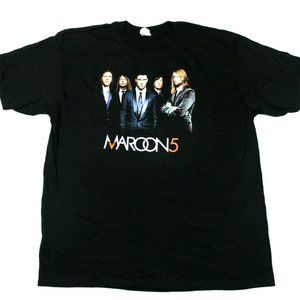 Maroon 5 Band Photo Logo 2007 Fall Tour Tee - 2XL